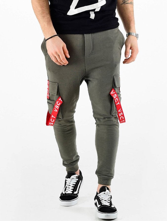 pre order cheaper to buy VSCT Clubwear Logo Tape Cargo Pants Khaki