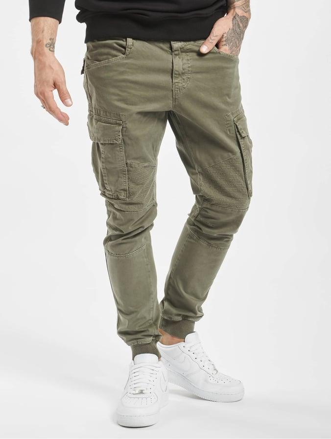 pantalon homme kaki cargo