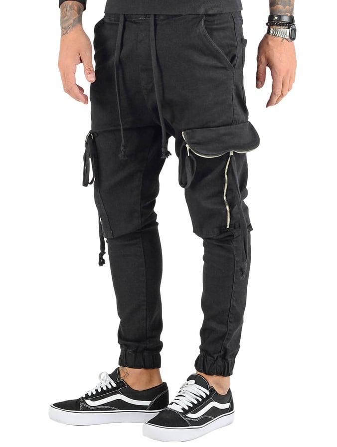 info for exclusive deals new authentic VSCT Clubwear Logan Antifit Cargo Pants Black