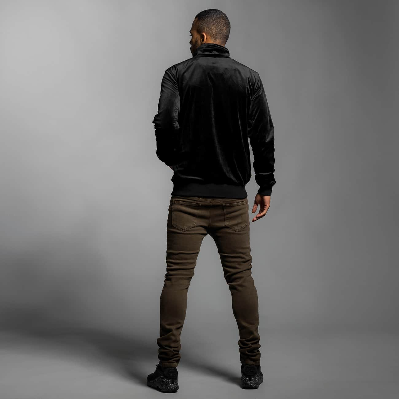 CHABOS IIVII Демисезонная куртка Core Velour Samt черный