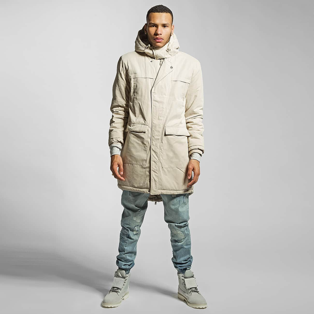 Urban Classics Manteau Cotton Peached Canvas beige