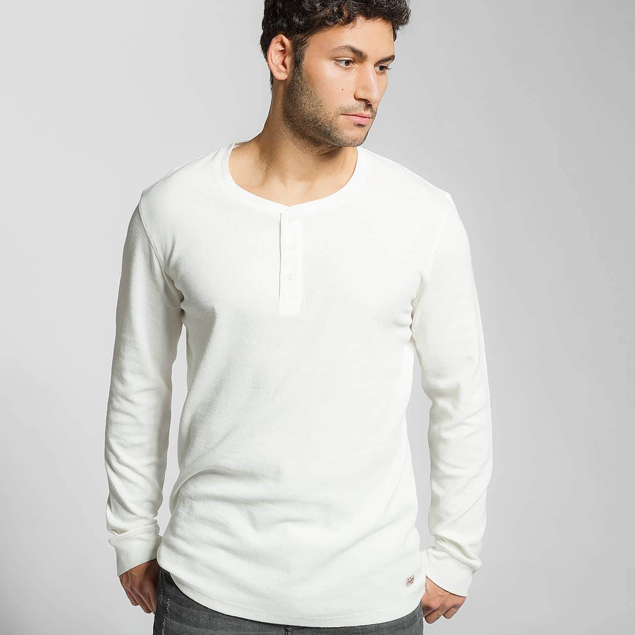 Jack & Jones Camiseta de manga larga jjorGeorge blanco