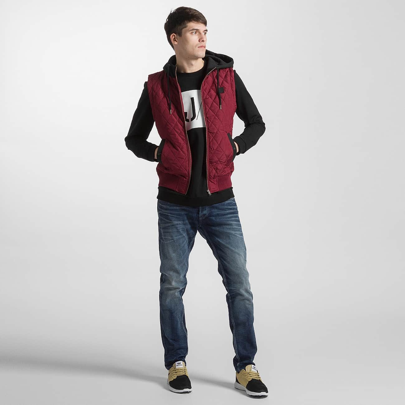 Urban Classics Vest Diamond Quilted red