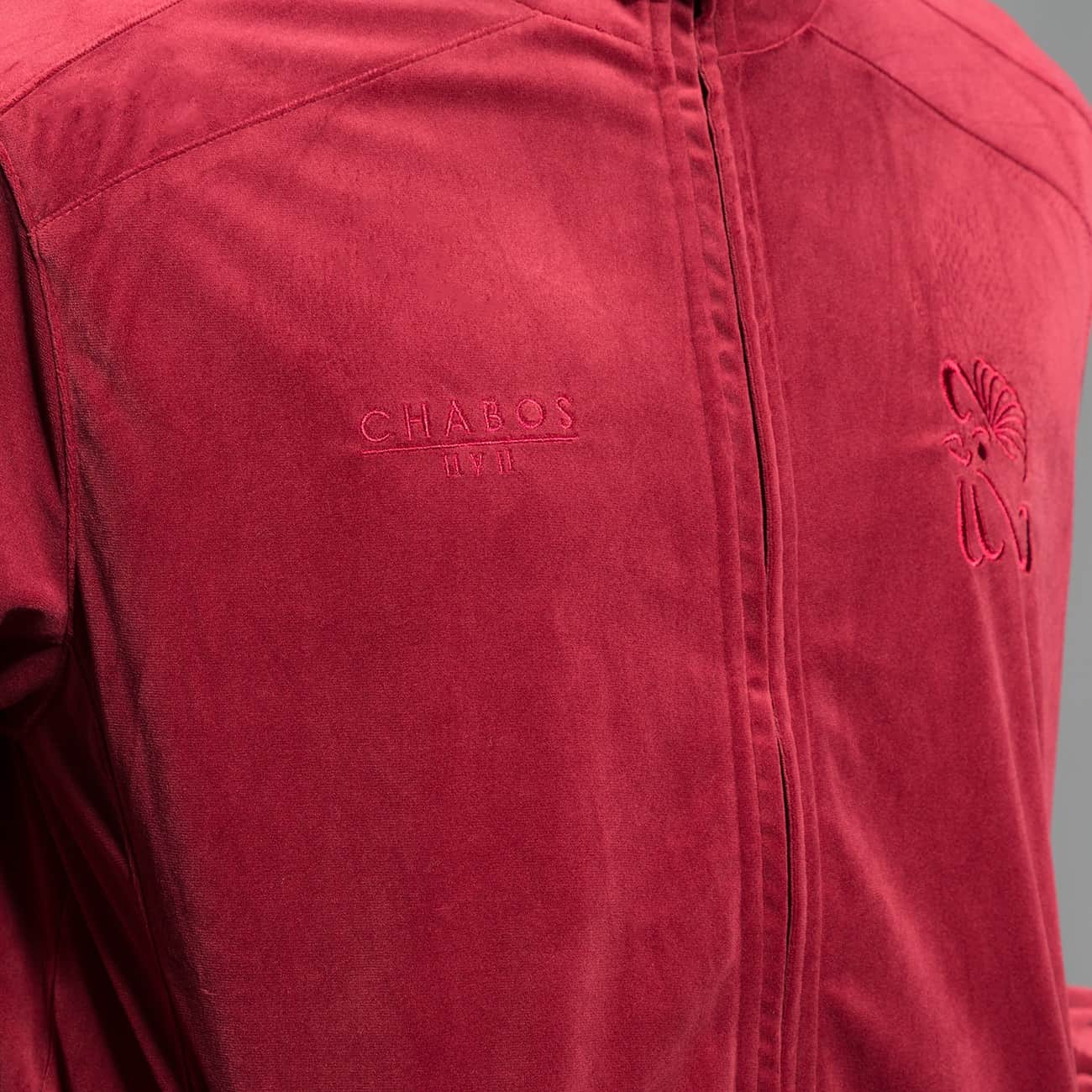 CHABOS IIVII Lightweight Jacket Core Velour Samt red