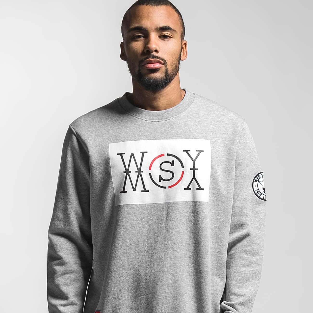 Who Shot Ya? Jumper Logo grey