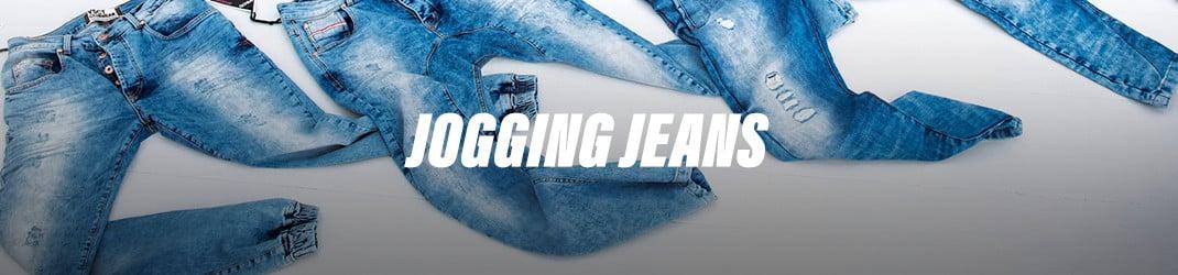 Jeans joggingbroeken. De trend voor nu, maar eigenlijk voor altijd