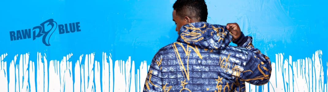 Raw Blue – lässige Hip Hop Mode in auffälligen Designs