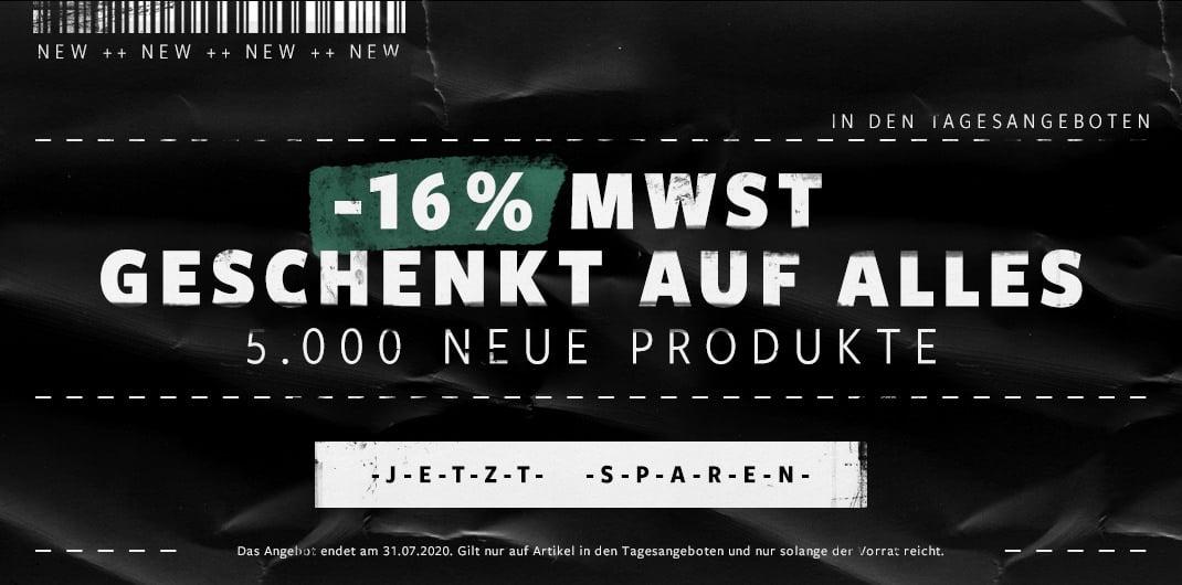 16% MWST OFF