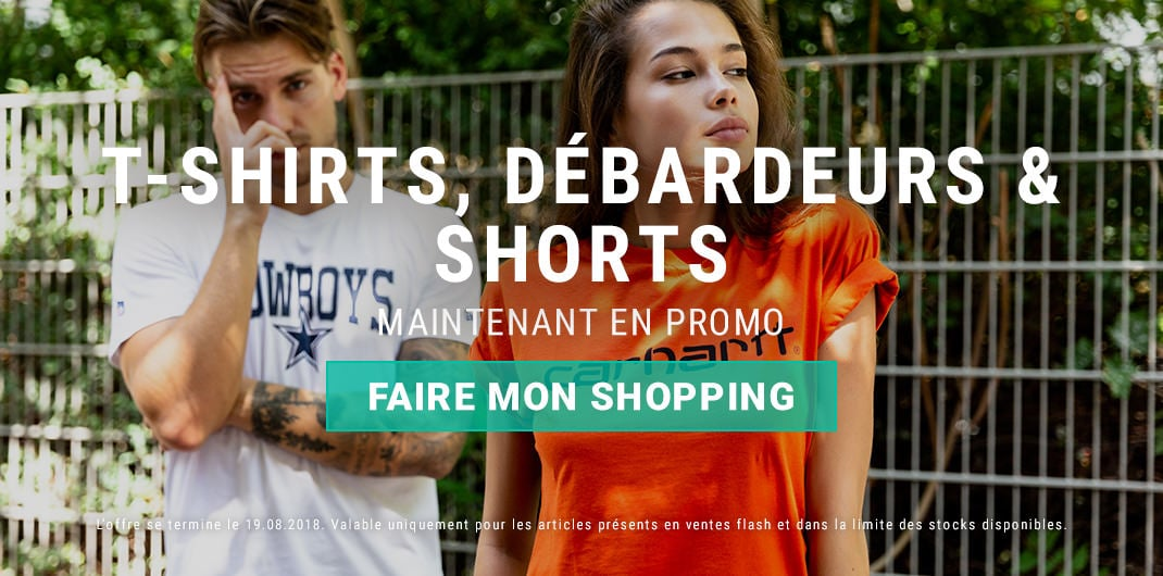 promos t-shirts débardeurs shorts unisexe