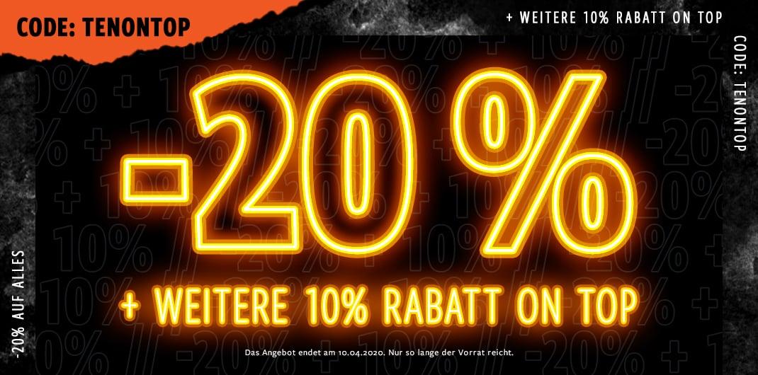 20% auf alles unisex