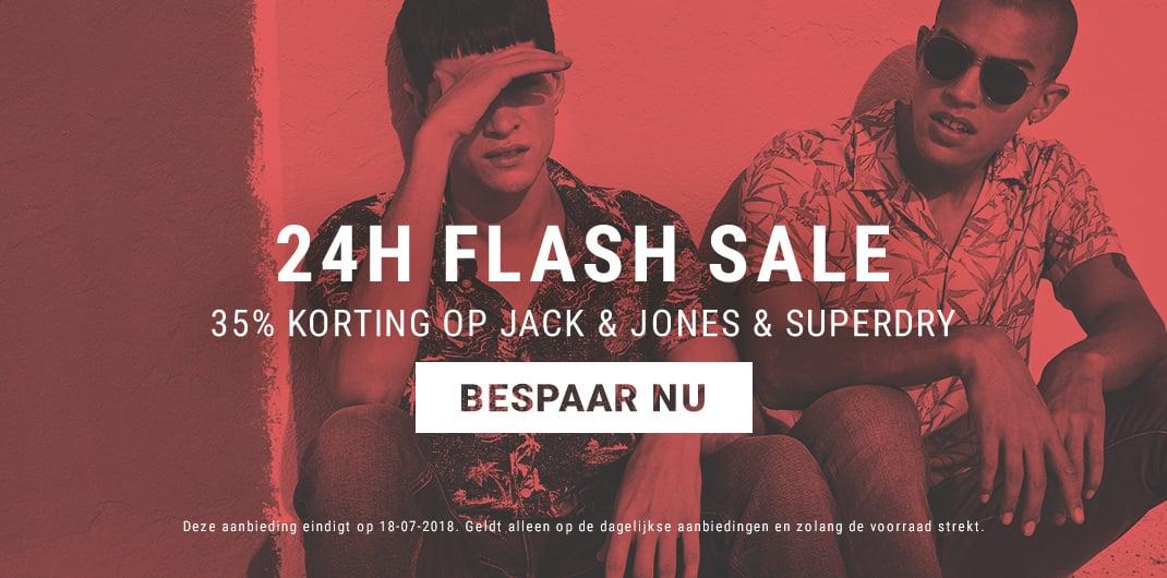 superdry & jack & Jones sale uniseks