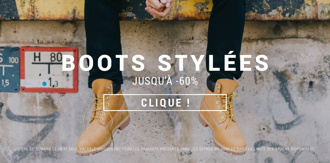 boots en promo unisexe