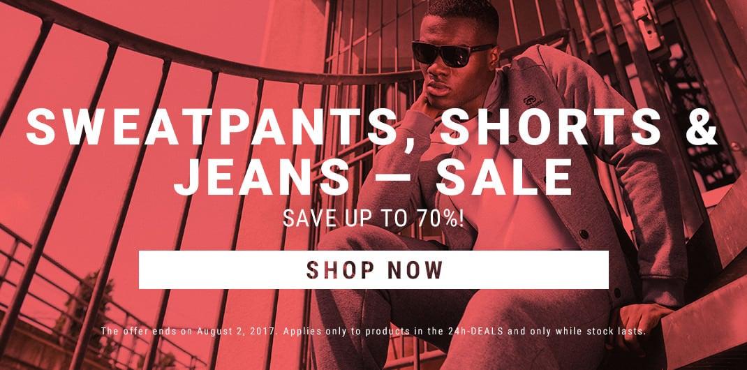 sweatpants jeans shorts sale