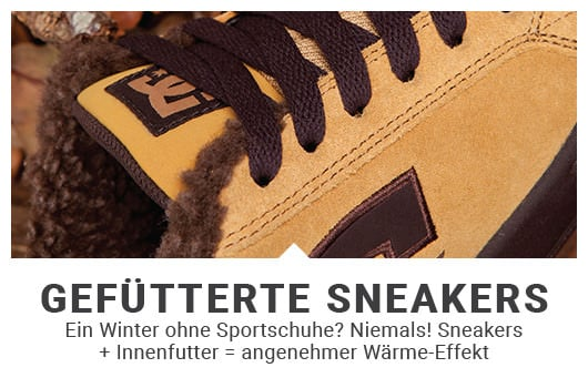 gefütterte Sneaker