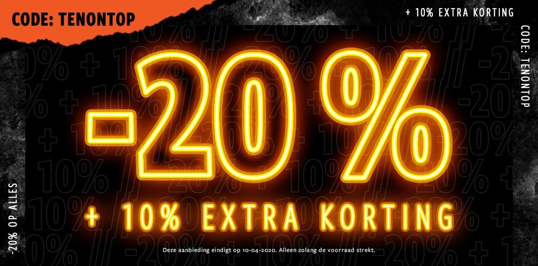 20% op alles heren