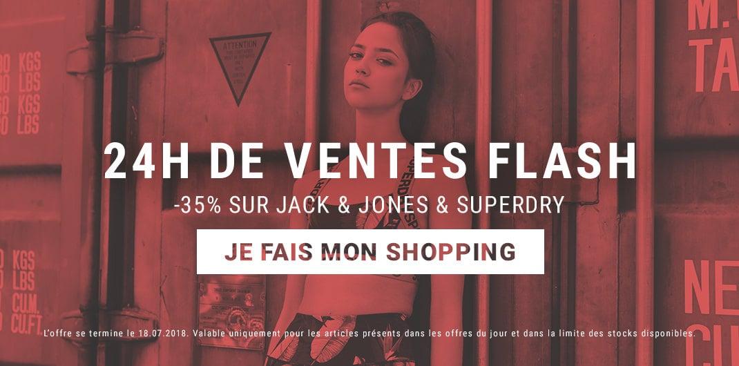 promos superdry & jack & Jones femme