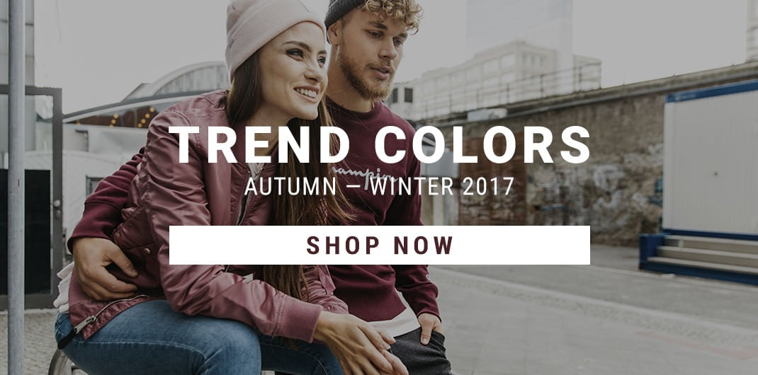 trend colors autumn - winter 2017 unisex