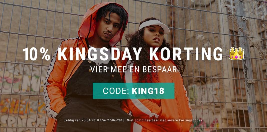 10% kingsday korting unisex