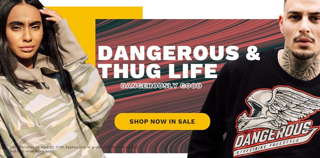 dangerous thug life sale unisex