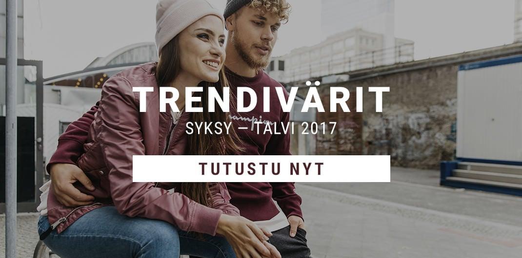 Trendivärit Syksy – Talvi 2017 Unisex