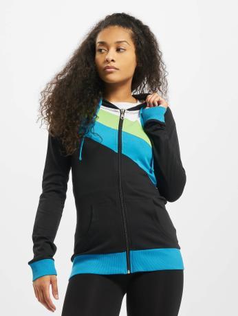 urban-classics-frauen-zip-hoodie-3-color-jersey-in-schwarz