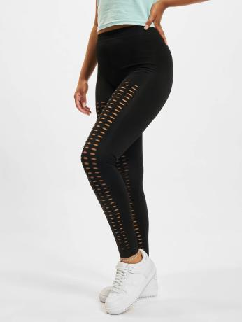 urban-classics-frauen-legging-ladies-cutted-in-schwarz