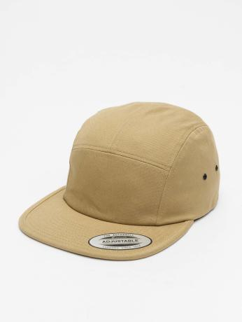 flexfit-manner-frauen-5-panel-caps-classic-jockey-in-khaki