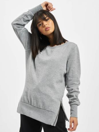 urban-classics-frauen-pullover-side-zip-long-in-grau