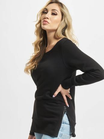 urban-classics-frauen-pullover-side-in-schwarz