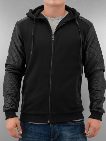 urban-classics-manner-zip-hoodie-diamond-leather-imitation-in-schwarz