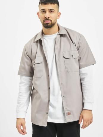 dickies-manner-hemd-shorts-sleeve-work-in-grau