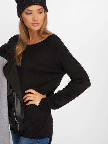 only-frauen-pullover-onlmila-lacy-long-in-schwarz