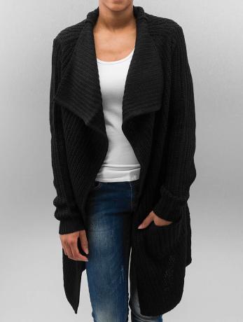 urban-classics-frauen-strickjacke-knitted-in-schwarz