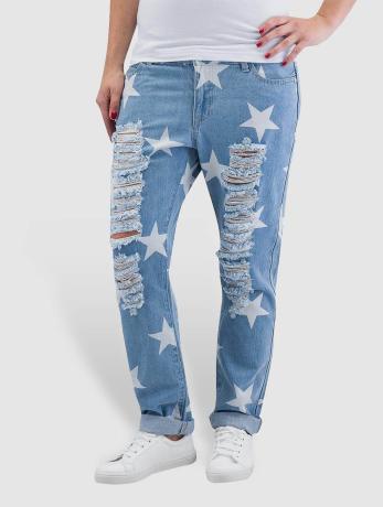 noisy-may-frauen-boyfriend-nmscarlet-star-low-waist-ankle-in-blau