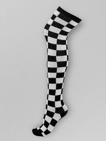 urban-classics-frauen-socken-checkerboard-in-schwarz