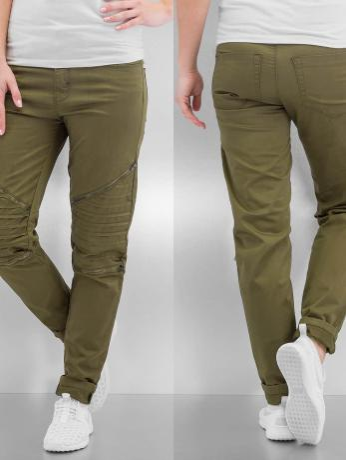 urban-classics-frauen-skinny-jeans-stretch-in-olive