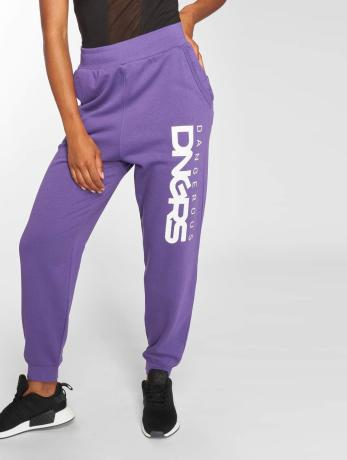 dangerous-dngrs-frauen-jogginghose-soft-dream-leila-ladys-logo-in-violet