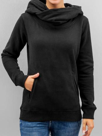 urban-classics-frauen-hoody-high-neck-in-schwarz