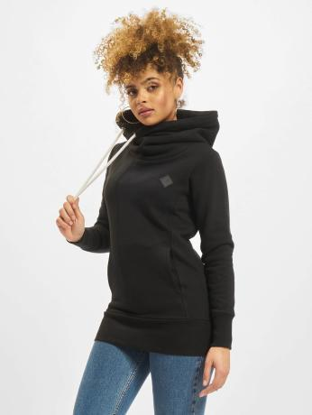 urban-classics-frauen-hoody-long-logopatch-in-schwarz