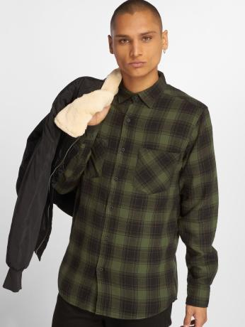 urban-classics-manner-hemd-checked-flanell-3-in-schwarz