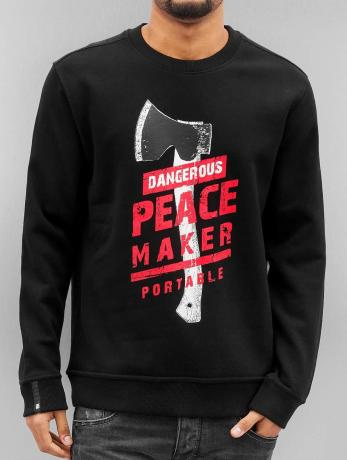 dangerous-dngrs-manner-pullover-peacemaker-in-schwarz