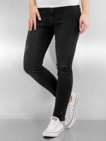 urban-classics-frauen-high-waist-jeans-ladies-high-waist-in-schwarz