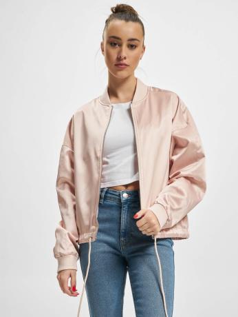 urban-classics-frauen-ubergangsjacke-ladies-satin-kimono-in-rosa