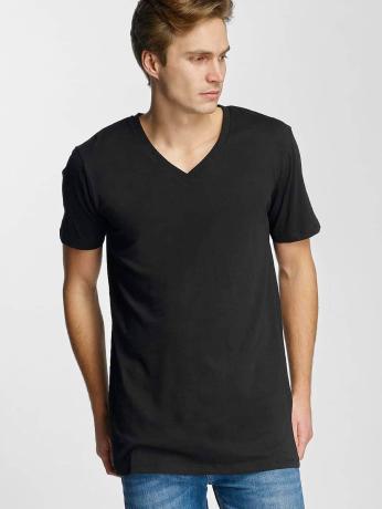 urban-classics-manner-t-shirt-basic-v-neck-in-schwarz