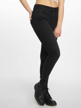 pieces-frauen-skinny-jeans-pcfive-delly-in-schwarz
