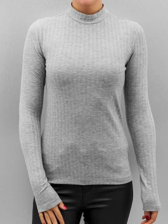 pieces-frauen-longsleeve-pcamy-in-grau