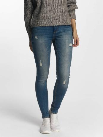 pieces-frauen-skinny-jeans-pcfive-delly-in-blau