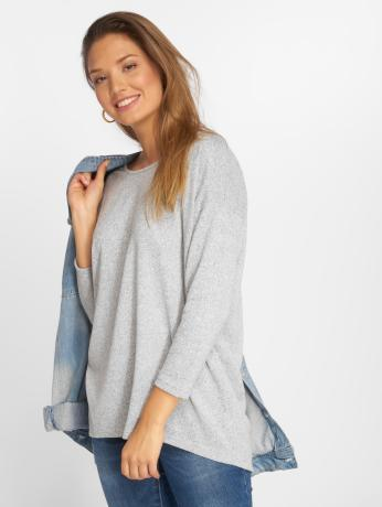 only-frauen-pullover-onlelcose-4-5-solid-in-grau