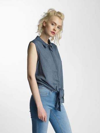 noisy-may-nmevelyn-tie-short-shirt-ombre-blue