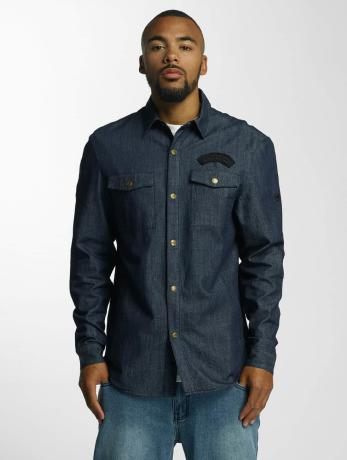 ecko-unltd-manner-hemd-jeans-in-indigo